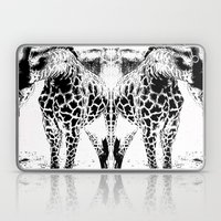Black N White Giraffe Laptop & iPad Skin
