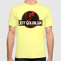 JURASSIC GOLDBLUM Mens Fitted Tee Lemon SMALL