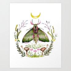 Pink Moth Art Print