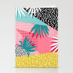 Bingo - throwback retro memphis neon tropical socal desert festival trendy hipster pattern pop art  Stationery Cards