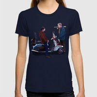 Jimmy Casual Womens Fitted Tee Navy SMALL