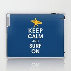 Keep Calm and Surf On (Surfer Boy) Laptop & iPad Skin