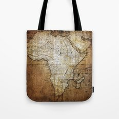 Vintage Africa Map Tote Bag