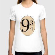 HARRY POTTER Womens Fitted Tee White SMALL