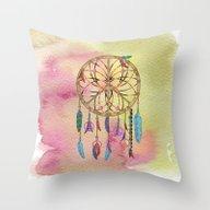 Peace Catcher Dreamcatch… Throw Pillow