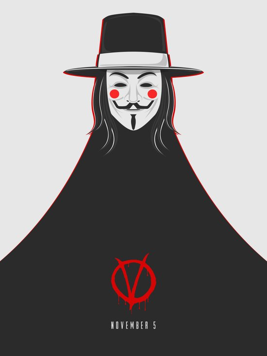 V for vendetta November 5 Minimal Poster Art Print