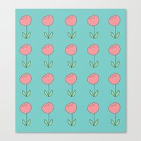 Color Me Pink With Sprin… Canvas Print