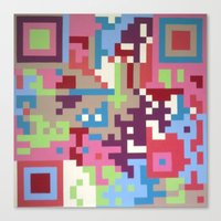 Number Four Multicolour  Canvas Print