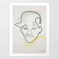 One Line Fresh Prince Of… Art Print
