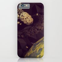 iPhone Cases featuring Asteroid vs. Black Hole by Timothy J. Reynolds