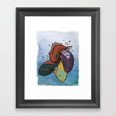 Kiss Fish Framed Art Print