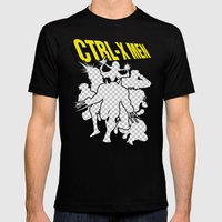 Ctrl-X Men Mens Fitted Tee Black SMALL