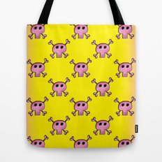 Pink Lemonade Punk Skulls Tote Bag