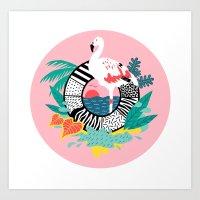 Flaming-oOO Art Print