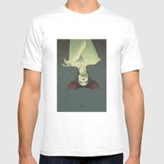 SLEEPING BANSHEE White Mens Fitted Tee SMALL