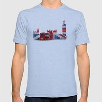 Red London Bus And Big B… Mens Fitted Tee Athletic Blue SMALL