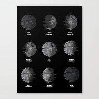 The Death Star Moon phase. Canvas Print