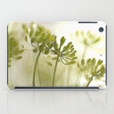 Something green and delicate iPad Case