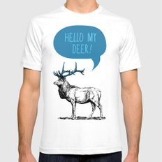 Hello My Deer! Mens Fitted Tee SMALL White