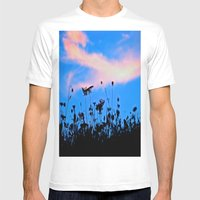 Dancing Under a Blue Sky Mens Fitted Tee White SMALL