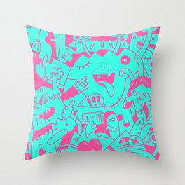 Throw Pillow - The Disconsolate Factory of Charles Grebbum - Mister Phil