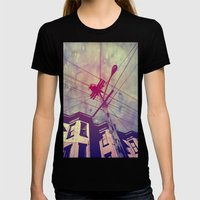 Wires Womens Fitted Tee Black SMALL