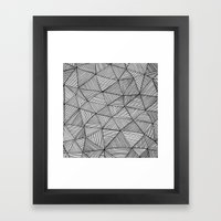 Angular Stripes Framed Art Print
