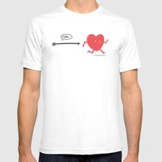 Follow the Heart Mens Fitted Tee White SMALL
