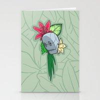 Flowery Robot Stationery Cards