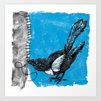 Crafty Magpie Art Print