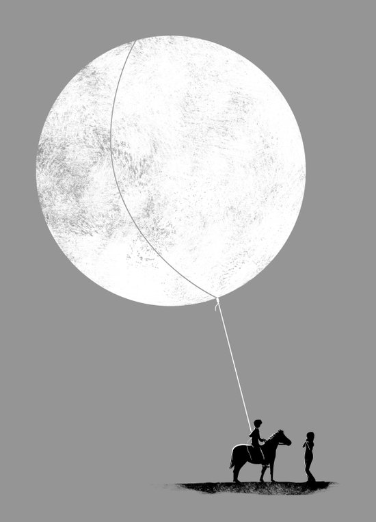 do you want the moon? Art Print
