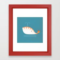 Legal Whale-Sushi Framed Art Print