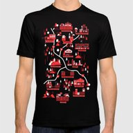 Survivors Map Mens Fitted Tee Black SMALL