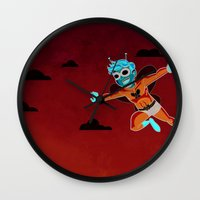 Butterfly In The Sky Wall Clock