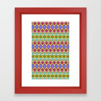 Happy Pattern 001 Framed Art Print