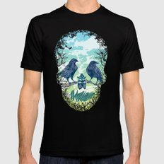 Nature's Skull (Green) Mens Fitted Tee Black SMALL