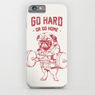 iPhone & iPod Case featuring GO HARD OR GO HOME by Huebucket