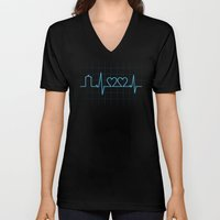 Two Heartbeats Unisex V-Neck