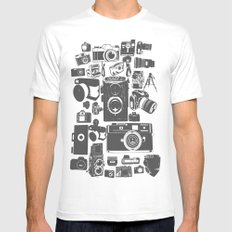 Cameras SMALL Mens Fitted Tee White