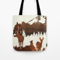 Tote Bag featuring Woodland by Jefdesigns