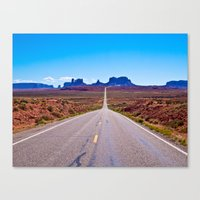 That Endless Road Canvas Print
