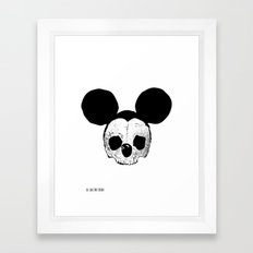 Dead Mickey Mouse Framed Art Print