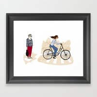 Street Stripes Framed Art Print