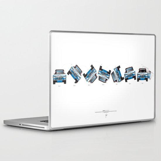Ari Vatanen-Bruno Berglund, 1989 Paris Dakar crash sequence Laptop & iPad Skin
