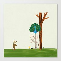Hare Receives A Visit Fr… Canvas Print