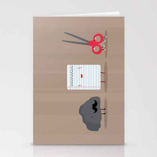Rock paper scissors Stationery Card