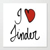 Tinder Canvas Print