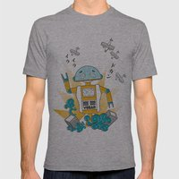 Vegan-Bot Mens Fitted Tee Athletic Grey SMALL