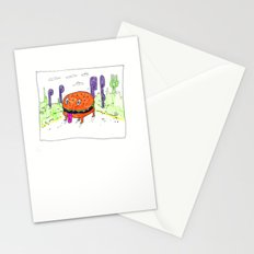 burger dog Stationery Cards