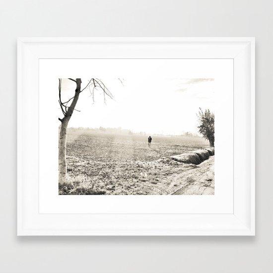 I'll be what I am.. a solitary man... Framed Art Print